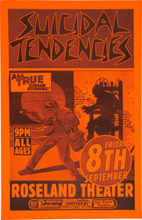 """Suicidal Tendencies Roseland Theater Concert Poster (2000). Rolled, Near Mint. (11"""" X 17"""")"""