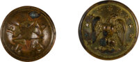 Texas and the Confederacy: Pair of Brass Uniform Buttons