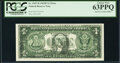 Full Face to Back Offset Error Fr. 1907-H $1 1969D Federal Reserve Note. PCGS Choice New 63PPQ
