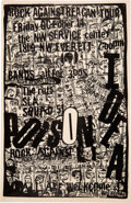 Music Memorabilia:Posters, Poison Idea / The Rats Rock Against Reagan SW Service Center Concert Poster (1983). Rolled, Very Good+. Concert Poster (...