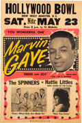 Music Memorabilia:Posters, Marvin Gaye 1964 Vancouver, B.C. Concert Poster Listing Four Classic Hits....