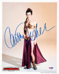 Movie/TV Memorabilia:Autographs and Signed Items, Carrie Fisher Signed Photo....