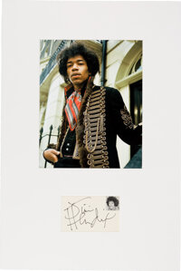 Jimi Hendrix Signature in a Matted Display