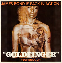 "Goldfinger (United Artists, 1964). Very Fine- on Linen. Six Sheet (78.75"" X 80.25"")"