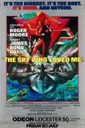 "Movie Posters:James Bond, The Spy Who Loved Me (United Artists, 1977). Rolled, Very Fine+. Royal Charity World Premier British Bus Shelter (40"" X 60"")..."