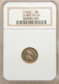 Patterns: , 1870 10C J-837 PR63 NGC. NGC Census: (6/17). PCGS Population: (16/20). ...