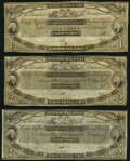 Obsoletes By State:Rhode Island, Newport, RI- New England Commercial Bank $1; $2 (2) 18__ Remainders Crisp Uncirculated.. ... (Total: 3 notes)