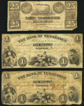 Obsoletes By State:Tennessee, Nashville, TN- Bank of Tennessee, (Knoxville Branch) 25¢ Dec. 1, 1861 Very Good-Fine;. Nashville, TN- Bank of Tennesse... (Total: 3 notes)