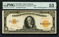 Large Size:Gold Certificates, Fr. 1173a $10 1922 Gold Certificate PMG About Uncirculated 53.. ...