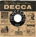 Music Memorabilia:Recordings, Buddy Holly 45 Group of 2 (Decca, 1956-58). Before his hitmakingdays began with the Crickets, Holly recorded on the Decca l...(Total: 2 )