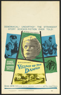"Village of the Damned (MGM, 1960). Window Card (14"" X 22""). Horror. Starring George Sanders, Barbara Shelley..."