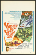 "Movie Posters:Adventure, Voyage to the Bottom of the Sea (20th Century Fox, 1961). WindowCard (14"" X 22""). Adventure. Walter Pidgeon, Joan Fontaine,..."