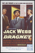 """Movie Posters:Crime, Dragnet (Warner Brothers, 1954). One Sheet (27"""" X 41""""). CrimeDrama. Starring Jack Webb, Ben Alexander, Richard Boone and An..."""