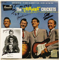"Music Memorabilia:Recordings, ""The Chirping Crickets"" Autographed EP with Promo Card (Brunswick71036, 1957). The groundbreaking group launched Buddy Holl..."