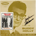 "Music Memorabilia:Recordings, Buddy Holly ""Rave On"" Autographed EP and Promo Card (UK - Coral2005, 1960). So many great EPs and picture sleeves were prod..."
