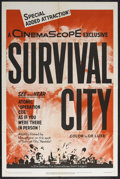 "Movie Posters:Documentary, Survival City (20th Century Fox, 1955). One Sheet (27"" X 41""). Documentary Short. Directed by Anthony Muto. This one sheet h..."