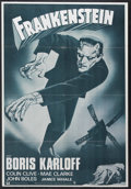 """Movie Posters:Horror, Frankenstein (Universal, R-1960s). Spanish Language One Sheet (27"""" X 41""""). Horror. Directed by James Whale. Starring Colin C..."""