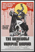"Movie Posters:Horror, The Werewolf vs. Vampire Woman (Universal Entertainment, 1971). One Sheet (27"" X 41""). Horror. Starring Paul Nash (Naschy), ..."