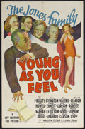 """Movie Posters:Comedy, Young as You Feel (20th Century Fox, 1940). One Sheet (27"""" X 41""""). Comedy. Starring Jed Prouty, Spring Byington, Russell Gle..."""