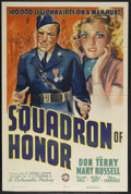 "Movie Posters:Crime, Squadron of Honor (Columbia, 1938). One Sheet (27"" X 41"").Action/Crime. Starring Don Terry, Mary Russell and ThurstonHall...."