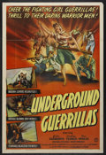 "Movie Posters:War, Underground Guerrillas (Columbia, 1944). One Sheet (27"" X 41"").War. Starring John Clements, Godfrey Tearle, Tom Walls, Mich..."