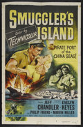 "Movie Posters:Adventure, Smuggler's Island (Universal, 1951). One Sheet (27"" X 41"").Adventure/Crime. Starring Jeff Chandler, Evelyn Keyes and Marvin..."