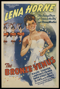"The Bronze Venus (Toddy Pictures, R-1940s). One Sheet (27"" X 41""). Musical. Starring Ralph Cooper, Lena Horne..."