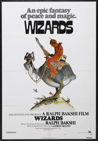 "Wizards (Twentieth Century Fox, 1977). One Sheet (27"" X 41"") Style A. Animated. Featuring the voices of Bob Ho..."