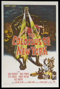 """Movie Posters:Science Fiction, The Colossus of New York (Paramount, 1958). One Sheet (27"""" X 41"""").Science Fiction. Starring Ross Martin, Mala Powers, Charl..."""