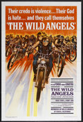"Movie Posters:Action, The Wild Angels (AIP, 1966). One Sheet (27"" X 41""). Drama/BikerFilm. Starring Peter Fonda, Nancy Sinatra, Bruce Dern and Di..."