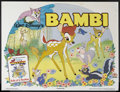 "Movie Posters:Animated, Bambi (Buena Vista, R-1986). British Quad (30"" X 40""). AnimatedComedy/Drama. Starring the voices of Hardie Albright, Donnie..."