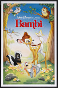 "Movie Posters:Animated, Bambi (Buena Vista, R-1988). One Sheet (27"" X 41""). Animated. Starring the voices of Bobby Stewart, Donnie Dunagan, Hardie A..."
