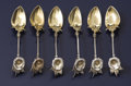 Silver Flatware, American:Gorham, A Set of Six American Silver and Silver Gilt Demi-Tasse Spoons.Gorham Manufacturing Co., Providence, Rhode Island. Circa ...(Total: 6 )
