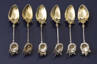 A Set of Six American Silver and Silver Gilt Demi-Tasse Spoons  Gorham Manufacturing Co., Providence, Rhode Island Circa...