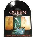 "Music Memorabilia:Autographs and Signed Items, Queen Autographed ""Thank God It's Christmas"" 12"" Single. A vinylcopy of the 1984 holiday 12"" single, signed on the cover b..."