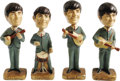 Music Memorabilia:Memorabilia, Beatles Car Mascot Bobbin' Head Figures (Car Mascots, Inc., 1964). A complete set of figurines of the likeness of all four m... (Total: 1 Item)