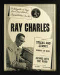 "Movie/TV Memorabilia:Props, ""Ray"" Prop Ad Featuring Jamie Foxx. A prop ad from the movieRay for the Ray Charles 45 single (""Sticks and Stones""/""Wo..."