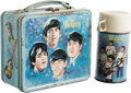 Music Memorabilia:Memorabilia, Beatles Metal Lunchbox with Thermos. Produced by Aladdin Industriesin 1965, this was the first metal box to use pop music p...