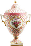 "Movie/TV Memorabilia:Memorabilia, Ava Gardner Sévres French Porcelain Vase. A large, 11.5"" antique,Sévres French porcelain vase, hand-painted pink and gold w..."