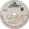 """Music Memorabilia:Recordings, Eddie Cochran Acetate Group of 2 (Liberty 1959-60). Two 78 rpmacetates from the legendary rocker, including the one-sided """"..."""