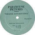"""Music Memorabilia:Recordings, Elvis Presley 10"""" Radio Spot Announcements Group of 2. Radio spot announcements for: """"Paradise, Hawaiian Style"""" (two-sided d... (Total: 2 )"""