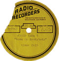 "Music Memorabilia:Recordings, Elvis Presley ""Come On Everybody"" 78 Acetate (Radio Recorders #2002, 1963). Backed with ""Night Life"". Condition: VG 5. Fro..."