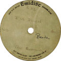 """Music Memorabilia:Recordings, Beatles """"I'm Down"""" 45 Acetate (1965). The rockin' flipside to""""Help!"""" has Paul at his wailing best. Here's a one-sided aceta..."""