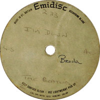 """Beatles """"I'm Down"""" 45 Acetate (1965). The rockin' flipside to """"Help!"""" has Paul at his wailing best..."""