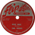 "Music Memorabilia:Recordings, Carl Perkins ""Movie Magg""/ ""Turn Around"" 78 (Flip 501, 1955).Before his Sun classics, Perkins recorded this little gem on t..."