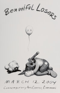 KAWS X Contemporary Arts Center Beautiful Losers, exhibition poster, 2004 Offset lithograph in color