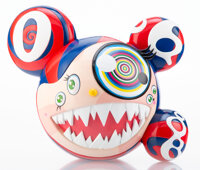 Takashi Murakami X ComplexCon Mr. Dob (Red), 2016 Painted cast vinyl 9-1/4 x 10-3/4 inches (23.5