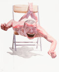 Prints & Multiples, Yue Minjun (b. 1962). Smile-ism No. 21, 2006. Lithograph in colors on paper. 43-1/2 x 31 inches (110.5 x 78.7 cm) (sheet...
