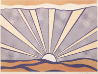 Roy Lichtenstein (1923-1997) Sunrise, 1965 Offset lithograph in colors on lightweight wove paper