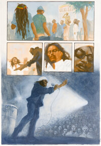 Gene Colan et Tennyson Smith Bob Marley Tale Of The Tuff Gong #2 Planche 13 (Marvel, 1994)